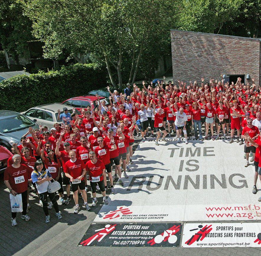 Soutenir MSF en faisant du Sport, Photo des sportis pour MSF