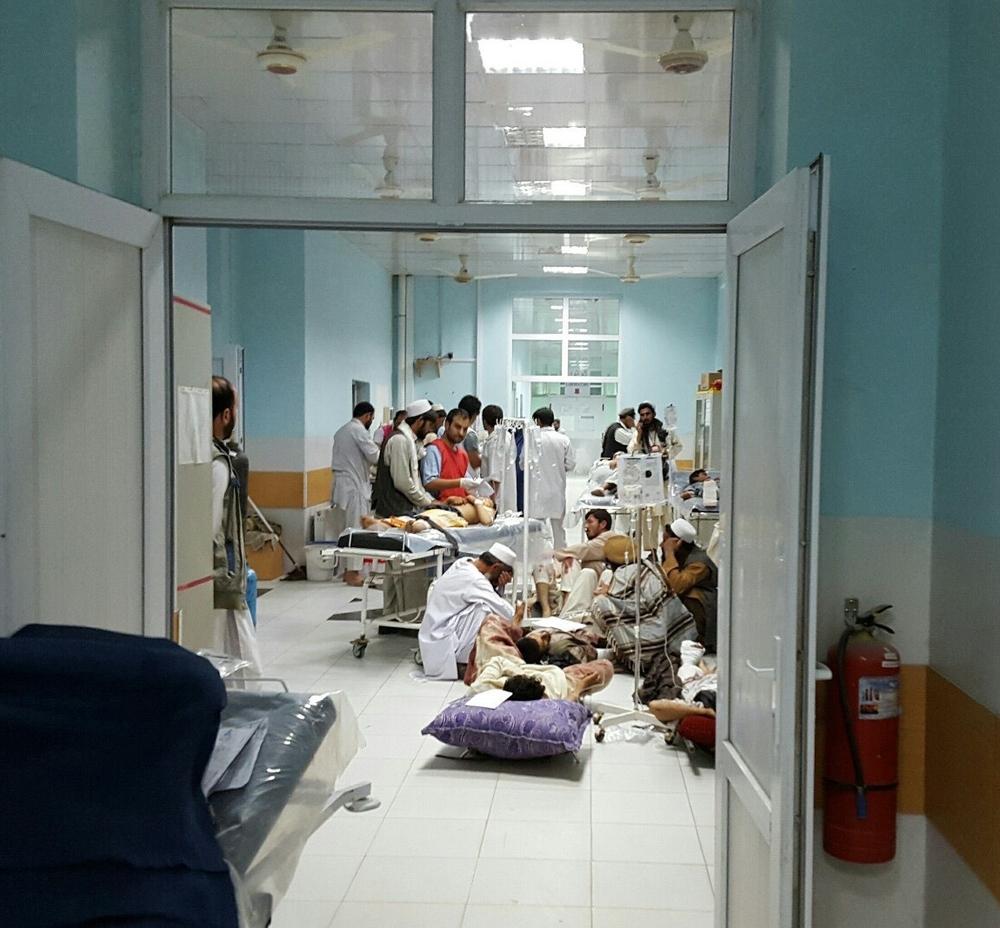 Le centre de traumatologie de Kunduz le 1er octobre 2015