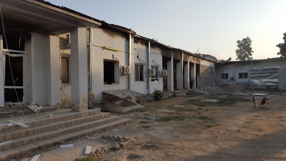 L'hôpital de Kunduz après les bombardements de la nuit du 3 octobre 2015