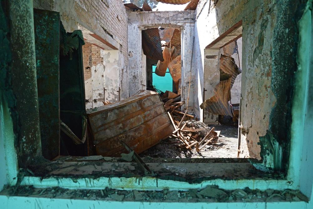 Le centre de traumatologie de Kunduz après le bombardement du 3 octobre 2015