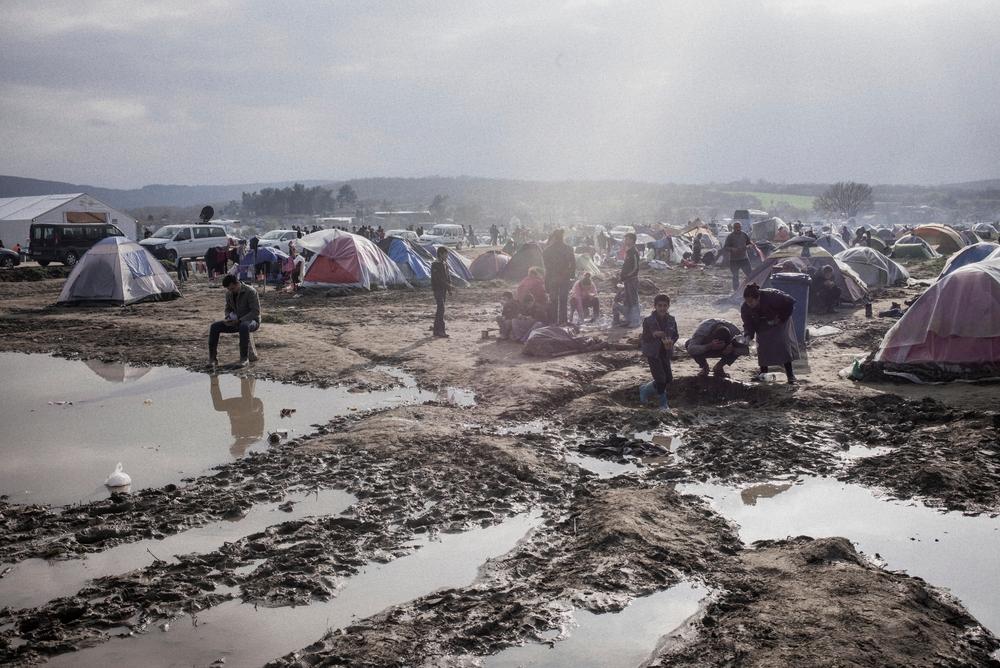 Le camp d'Idomeni