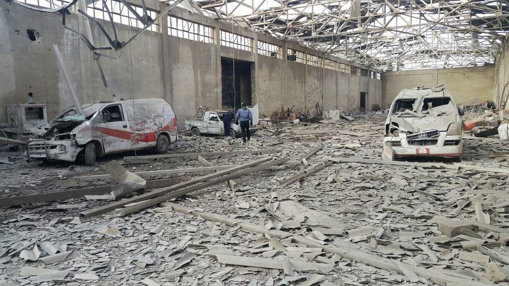 Les ambulances détruites