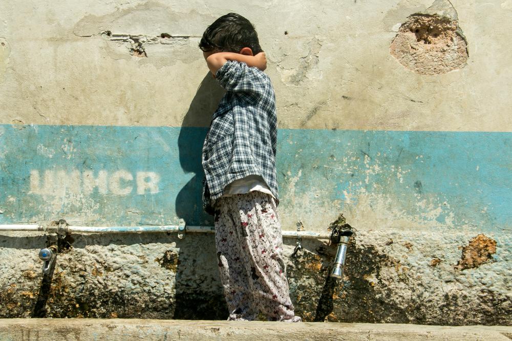 ook kinderen zitten vast op Lesbos in het vluchtelingenkamp van moria