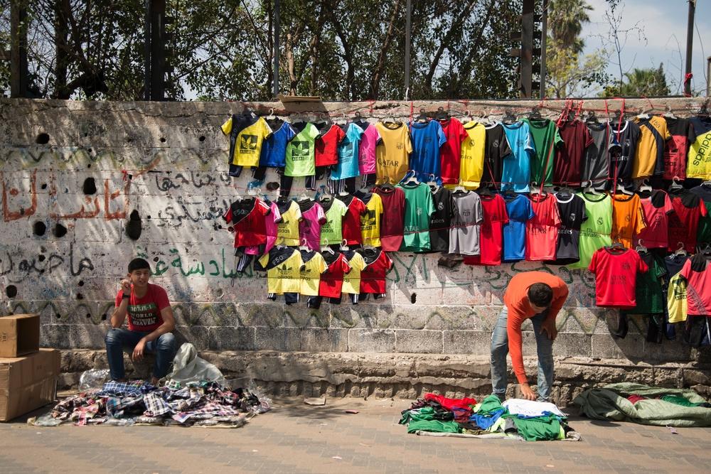 marché de rue à Gaza
