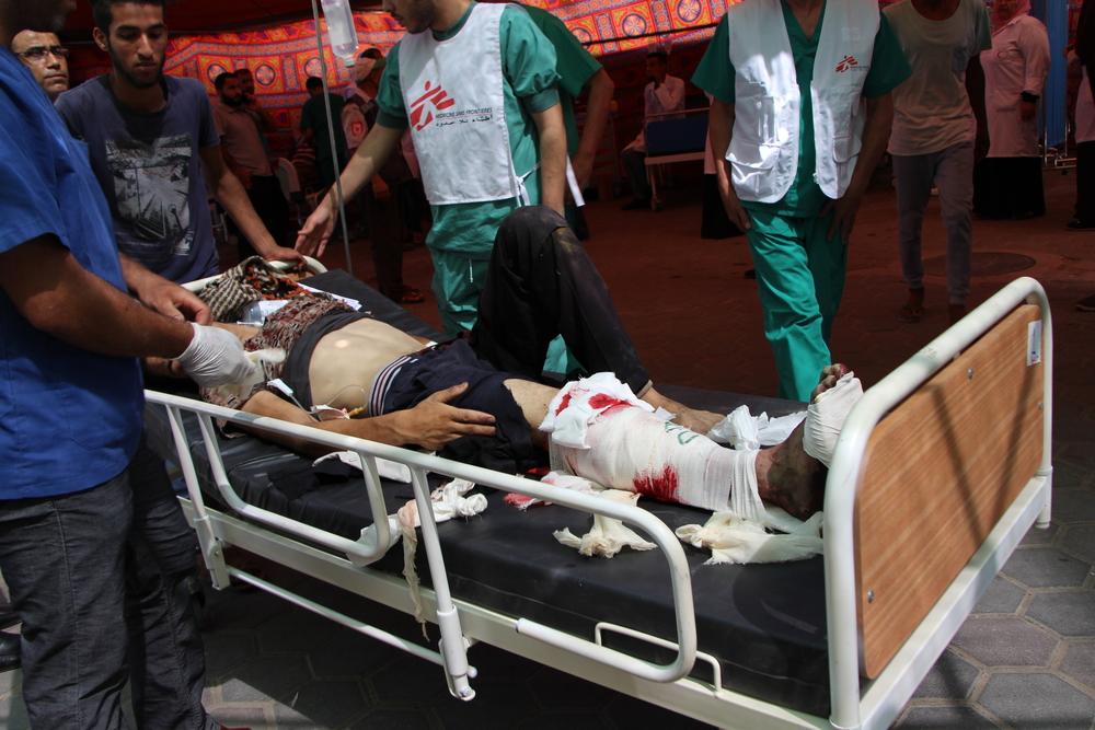 Un patient à Gaza