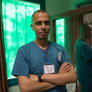 Zaher, verpleger voor AZG © Laurie Bonnaud/AZG. Gaza, mei 2018.