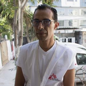 Dr. Mohammed Abu Mughaiseeb, référent médical de MSF à Gaza