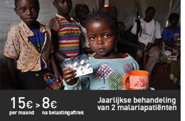 Jaarlijkse behandeling van 2 malariapatiënten