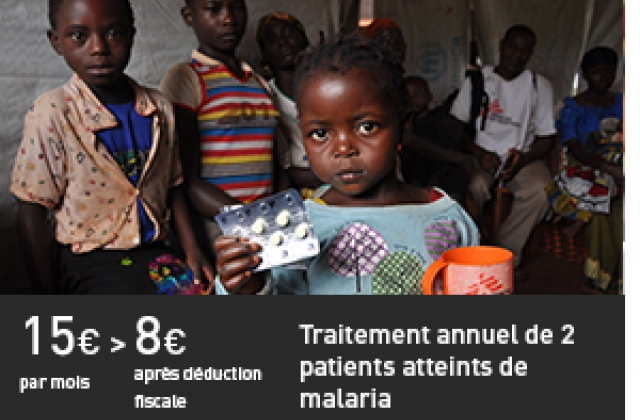 Traitement annuel de 2 patients atteints de malaria