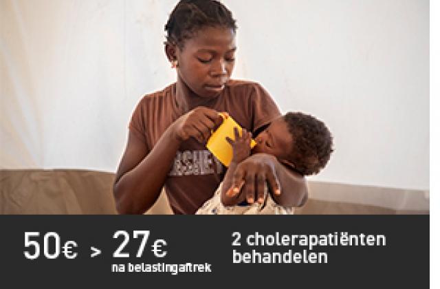 2 cholerapatiënten behandelen