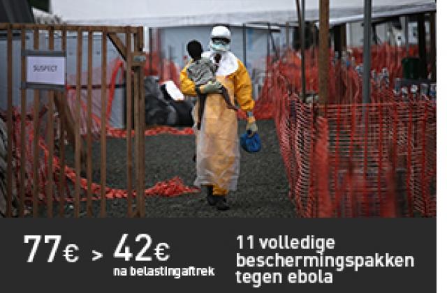 11 volledige beschermingspakken tegen ebola