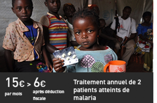 Traitement annuel de 2 patients atteints de malaria