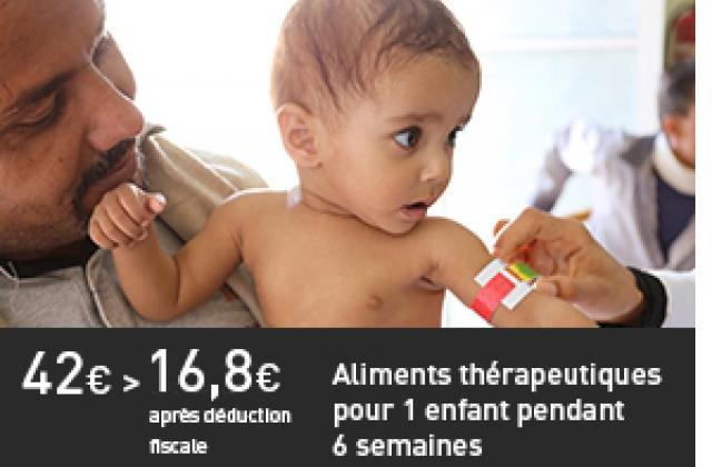 Aliments thérapeutiques pour 1 enfant pendant 6 semaines