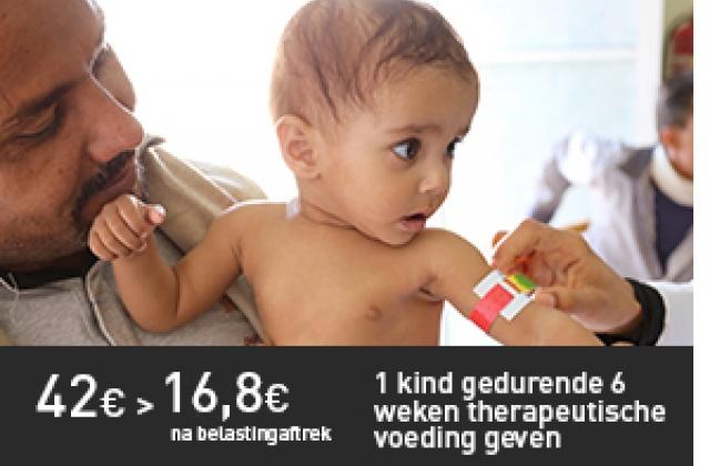 therapeutische voeding voor 1 kind gedurende 6 weken