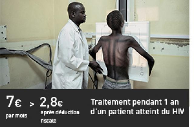 Traitement pendant 1 an d'un patient atteint du HIV