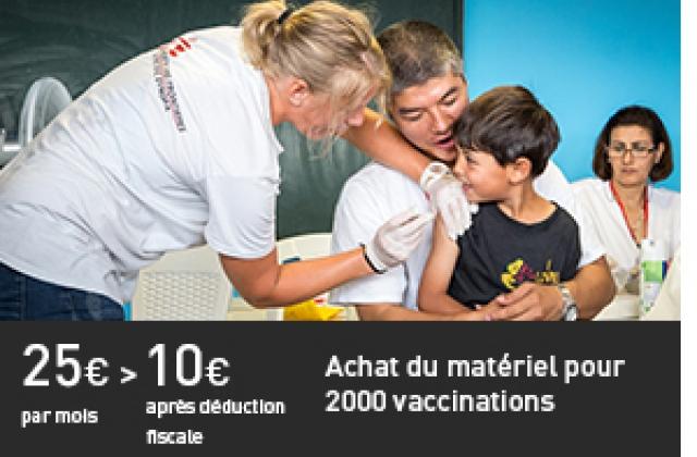 Matériel pour 2000 vaccinations