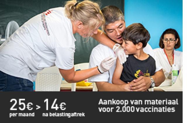 Aankoop van materiaal voor 2.000 vaccinaties