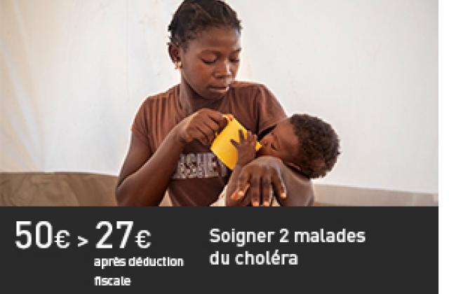 Soigner deux malades du choléra