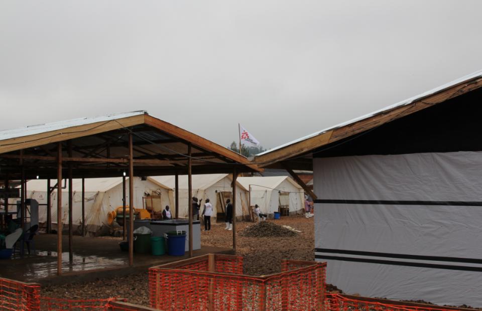 Le centre de transit MSF de Beni en RDC. Novembre 2018
