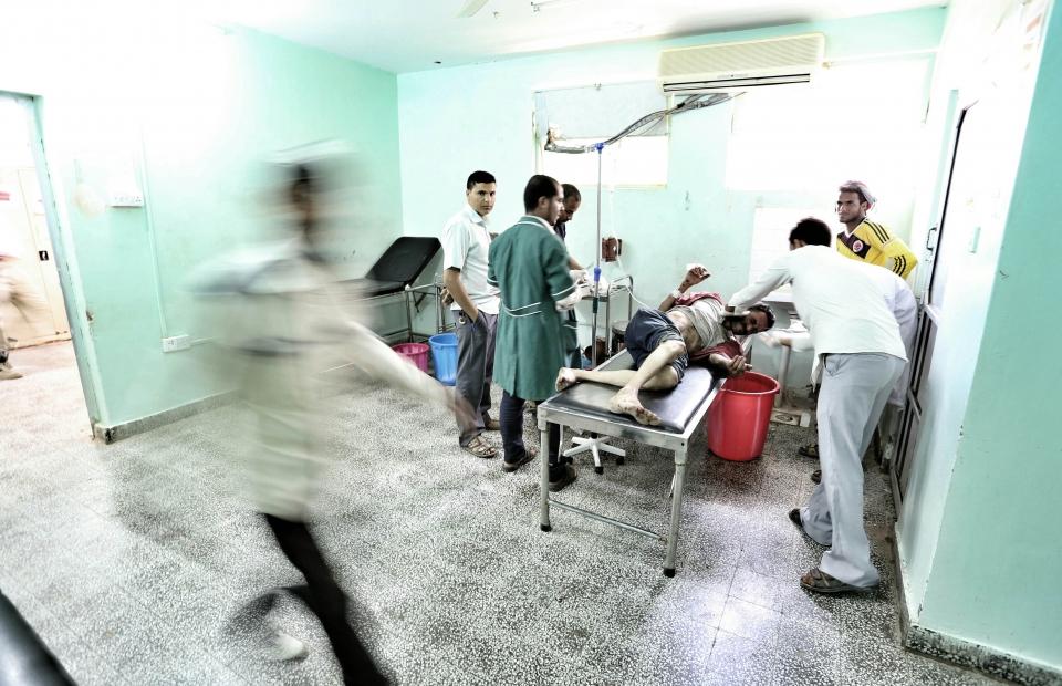 De spoeddienst van het Al-Nasr-ziekenhuis in Al-Dhale, Zuid-Jemen. © Mohammed Sanabani