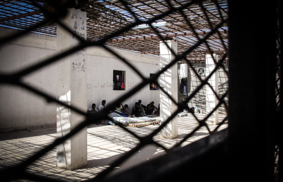 het detentiecentrum in Tripoli