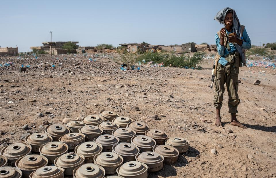 landmijnen in jemen