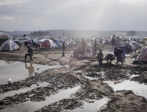 Vluchtelingencamp in Idomeni, Griekenland