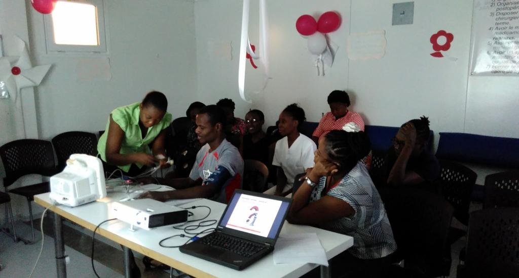 collega's in Haiti