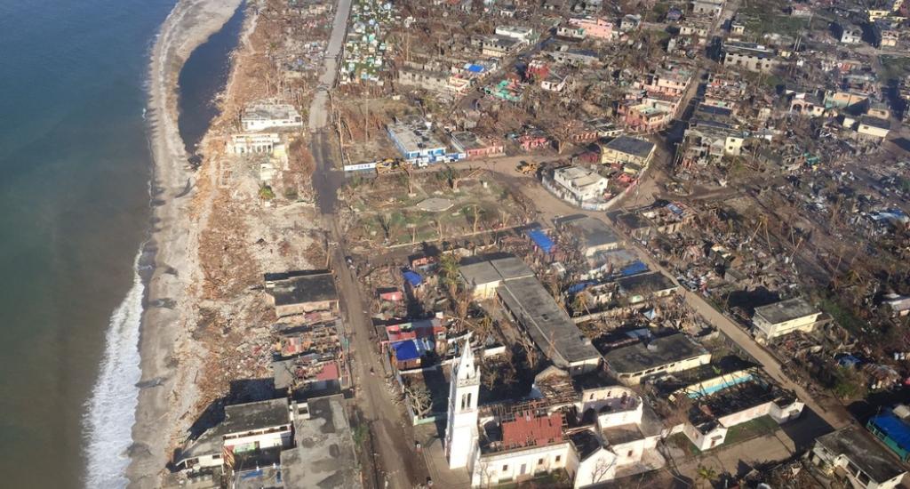 La localité de Port-à-Piment largement détruite par l'ouragan Matthew  © Joffrey Monnier/MSF. MSF. Haïti, 2016.