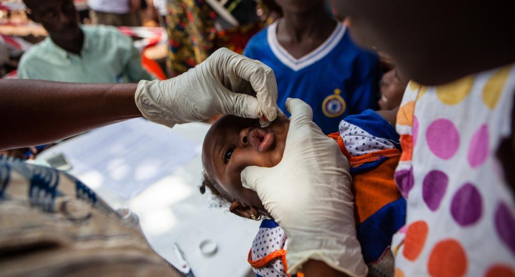 MSF vaccine contre la rougeole à Conakry, Guinée