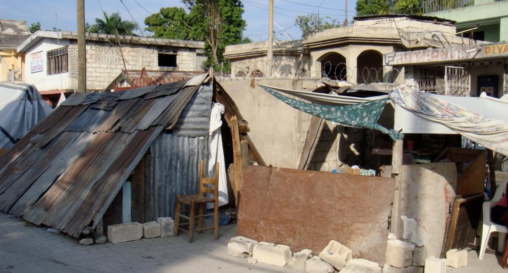 Haïti, na de aardbeving van 2010.