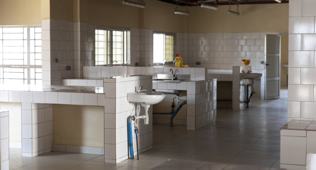 The hospital kitchen.