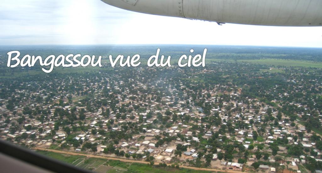 Vue aérienne de Bangassou