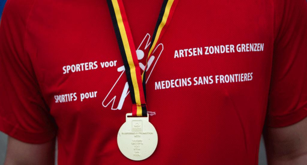 Arrivée médaille MSF 20 km Bxl 2016