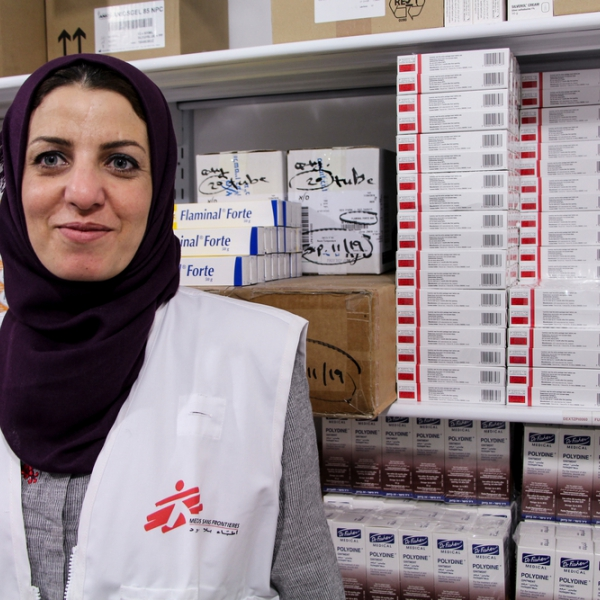 Samar, pharmacienne  © Laurie Bonnaud/MSF